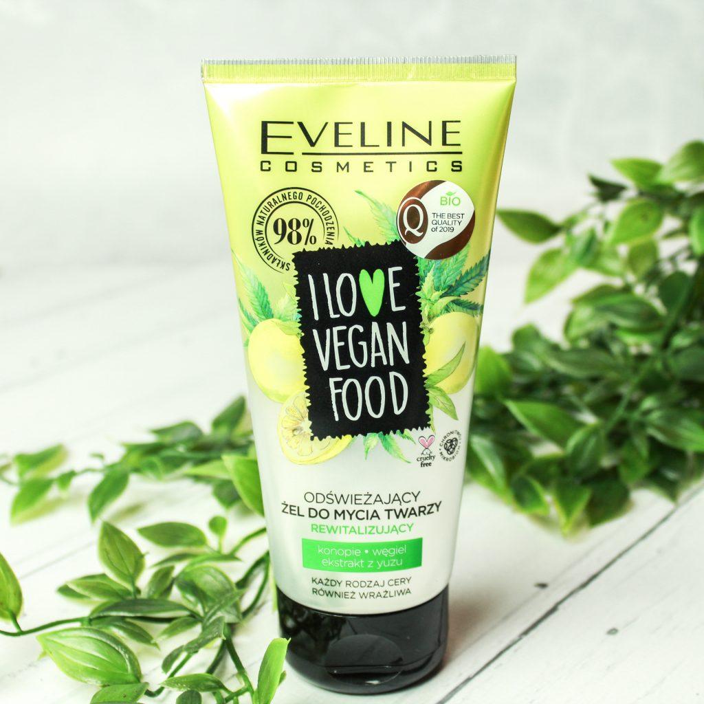 oświeżający żel do mycia twarzy eveline i love vegan food
